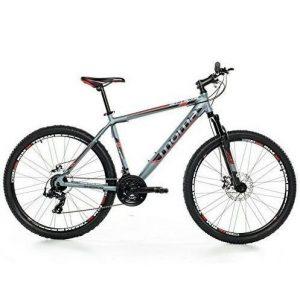 Bici de montaña con suspensión delantera