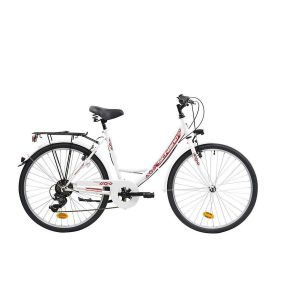 Bicicleta urbana con cuadro de acero