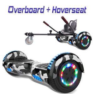 Hoverboard con silla de metal