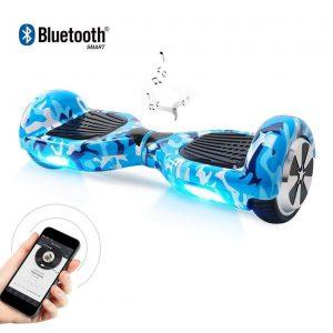 Patinete eléctrico hoverboard con altavoces bluetooth